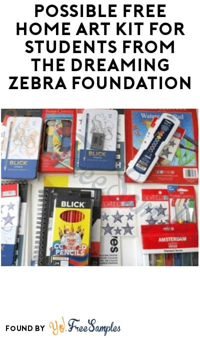Possible FREE Home Art Kit for Students from Dreaming Zebra Foundation (Email Required)