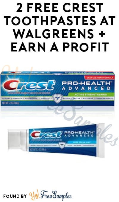 2 FREE Crest Toothpastes at Walgreens + Earn A Profit (In-Stores Only + Account & Ibotta Required)