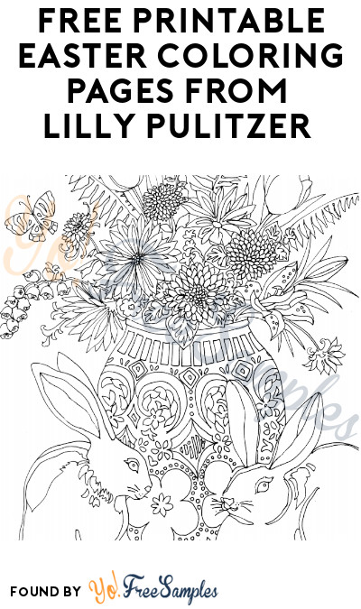 FREE Printable Easter Coloring Pages from Lilly Pulitzer