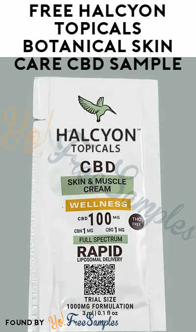 FREE Halcyon Topicals Botanical Skin Care CBD Sample