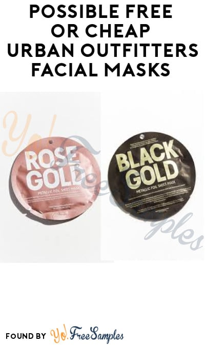 Possible FREE or CHEAP Urban Outfitters Facial Masks (Credit Card + Code Required)