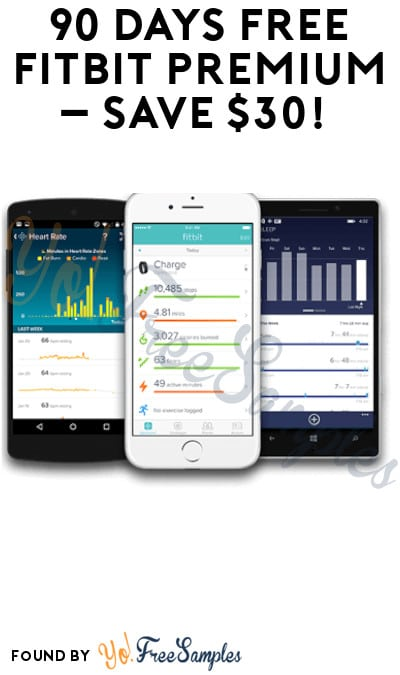 90 Days FREE Fitbit Premium – Save $30! (App & Credit Card Required)