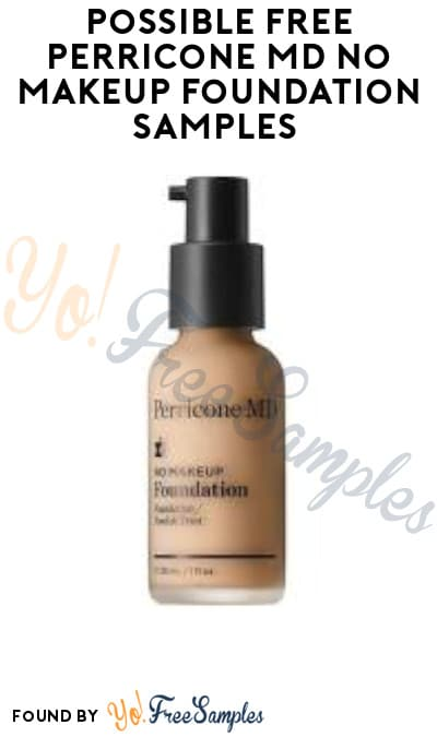 Possible FREE Perricone MD No Makeup Foundation Samples (Facebook Required)