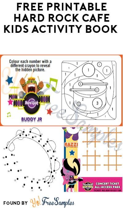 FREE Printable Hard Rock Café Kids Activity Book