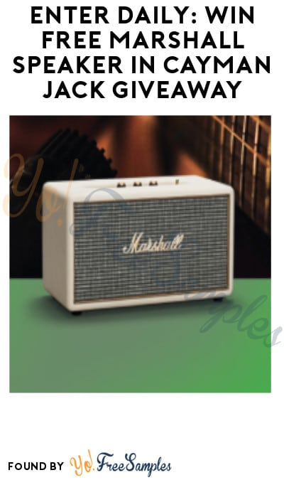 Enter Daily: Win FREE Marshall Speaker in Cayman Jack Giveaway (Ages 21 & Older Only)