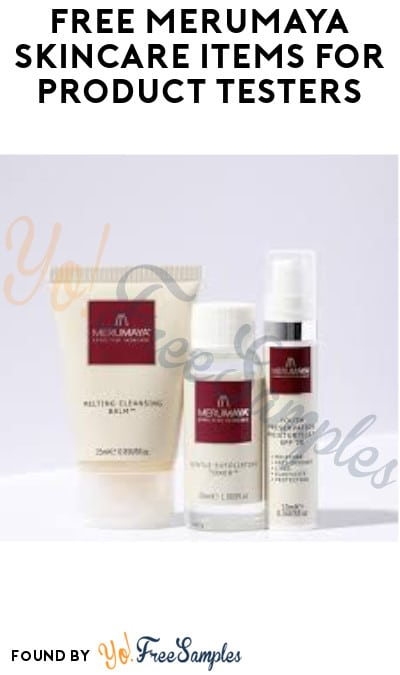 FREE Merumaya Skincare Items for Product Testers (Must Apply)