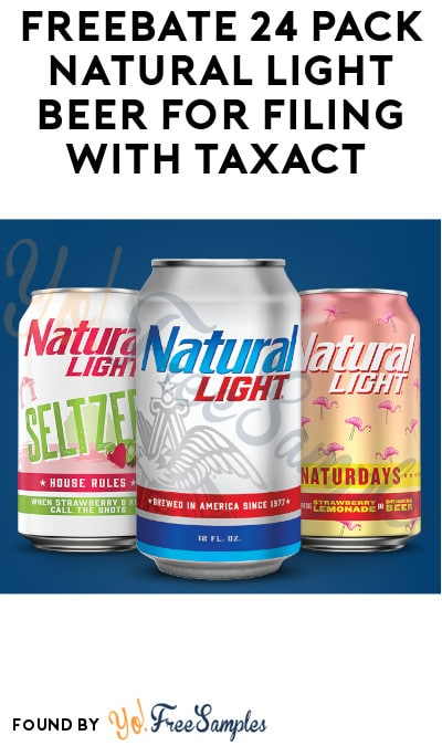 FREEBATE 24 Pack Natural Light Beer for Filing with TaxAct (Ages 21 & Older + Select States Only)
