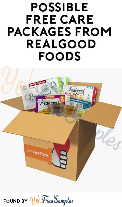 Possible FREE Care Packages from Realgood Foods (Must Apply)