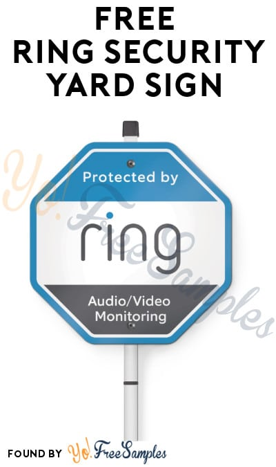 FREE Ring Security Yard Sign (Select Accounts)