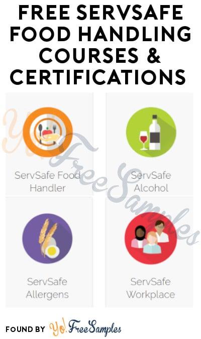 FREE ServSafe Food Handling Courses & Certifications