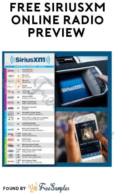 FREE SiriusXM Online Radio Preview