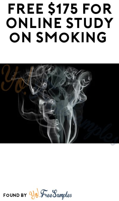 FREE $175 for Online Study on Smoking (Must Apply)