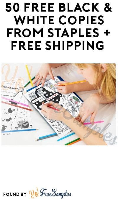 50 FREE Black & White Copies from Staples + Free Shipping
