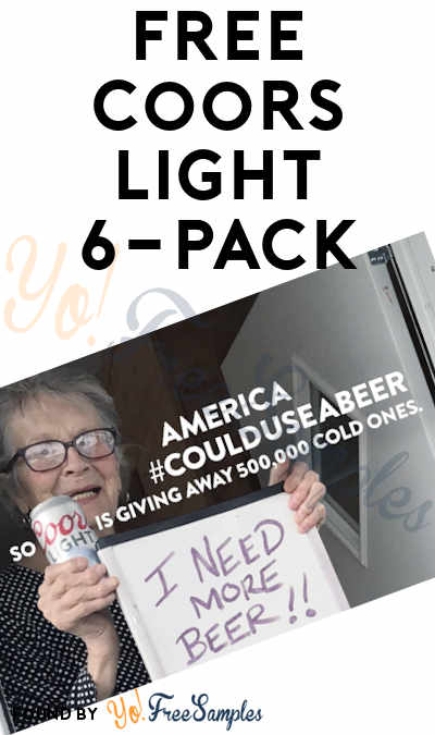FREE Coors Light 6-Pack (21+ Only, Select States & Texting Required)