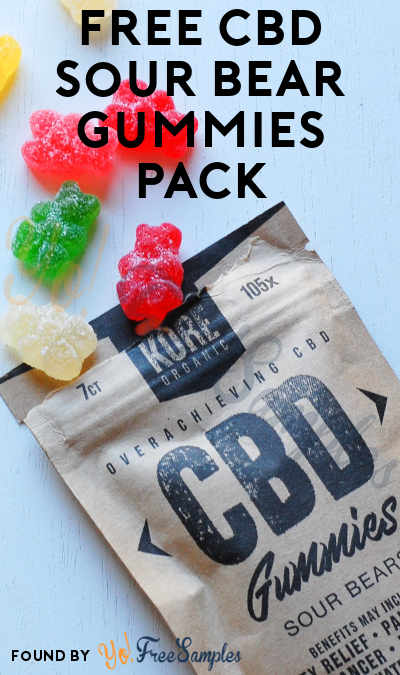 Waitlist: FREE CBD Sour Bear Gummies Pack