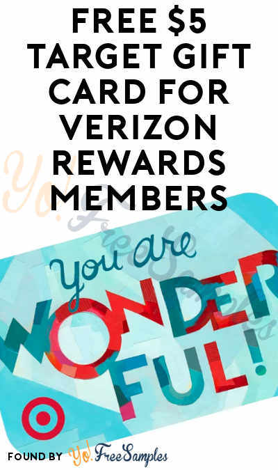 FREE $5 Target Gift Card For Verizon Rewards Members