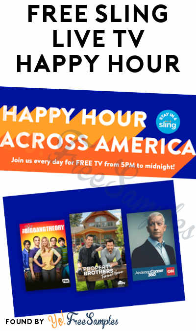 FREE Sling Live TV Streaming Happy Hour
