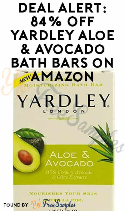 DEAL ALERT: 84% Off Yardley Aloe & Avocado Bath Bars on Amazon