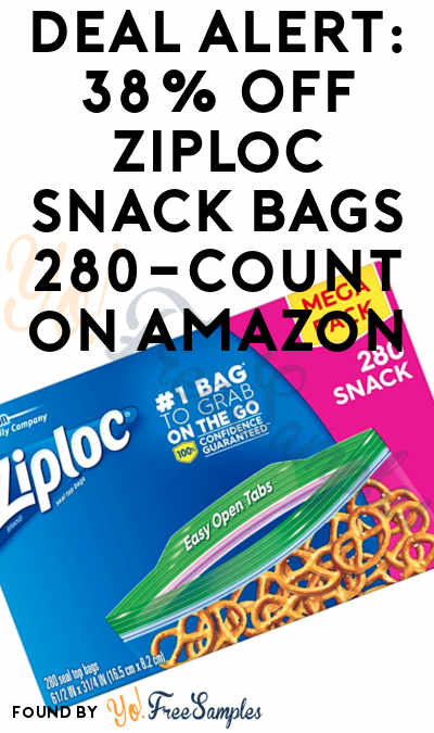 DEAL ALERT: 38% Off Ziploc Snack Bags 280-Count on Amazon