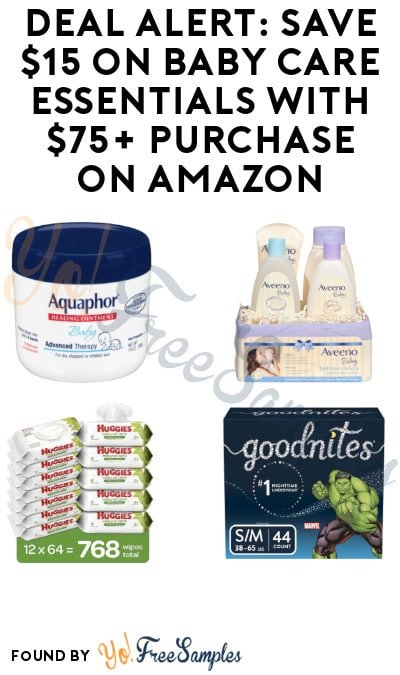 DEAL ALERT: Save $15 on Baby Care Essentials with $75+ Purchase on Amazon