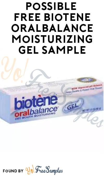 Possible FREE Biotene Oralbalance Moisturizing Gel Sample (Facebook Required)