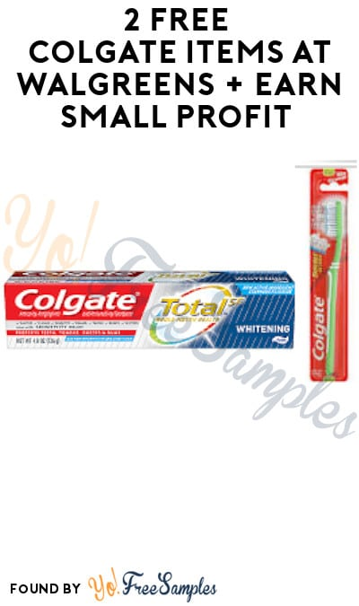 2 FREE Colgate Items at Walgreens + Earn Small Profit (Account/ Coupon Required + In-Stores Only)
