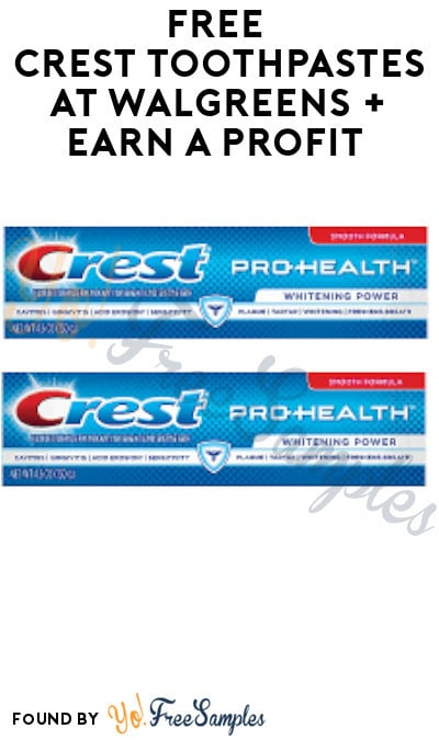 FREE Crest Toothpastes at Walgreens + Earn A Profit (Rewards Card Required)