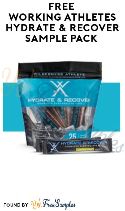 FREE Working Athletes Hydrate & Recover Sample Pack (Company Name Required)