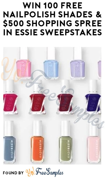 Win 100 FREE Nail Polish Shades & $500 Shopping Spree in Essie Sweepstakes