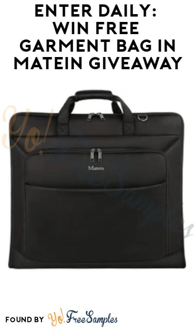 Enter Daily: Win FREE Garment Bag in Matein Giveaway (Social Media Required)