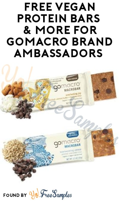 FREE Vegan Protein Bars & More for GoMacro Brand Ambassadors (Must Apply + Instagram Required)