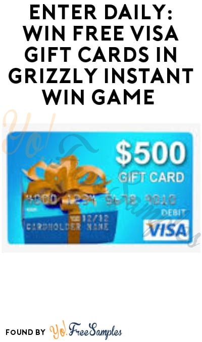 Enter Daily: Win FREE Visa Gift Cards in Grizzly Instant Win Game (Ages 21 & Older Only)