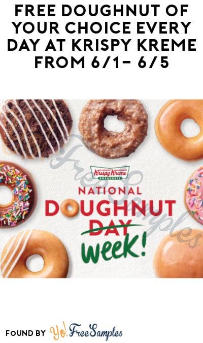 FREE Doughnut Daily At Krispy Kreme For National Doughnut Week (6/1 – 6/5)