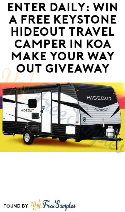 Enter Daily: Win a FREE Keystone Hideout Travel Camper in KOA Make Your Way Out Giveaway