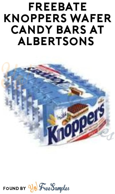 FREEBATE Knoppers Wafer Candy Bars at Albertsons (Ibotta Required)