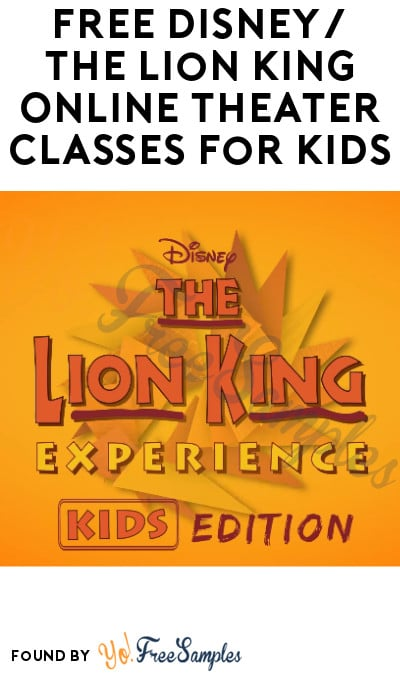 FREE Disney/The Lion King Online Theater Classes for Kids