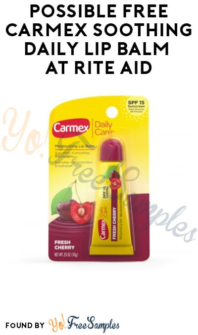 Possible FREE Carmex Soothing Daily Lip Balm at Rite Aid (Wellness+ Required)