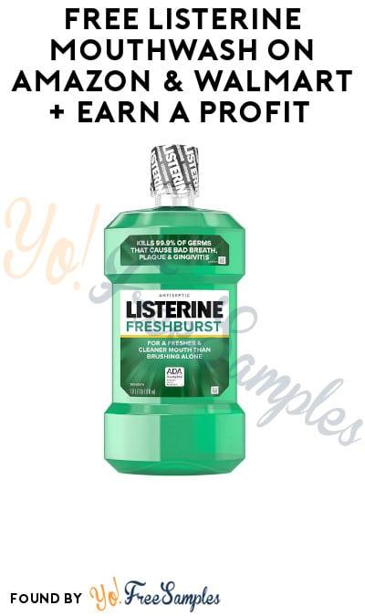FREEBATE Listerine Mouthwash 1 Liter Bottles on Amazon & Walmart [Verified]