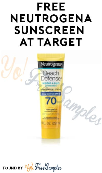 FREE Neutrogena Sunscreen at Target (Target Circle or Coupon Required)