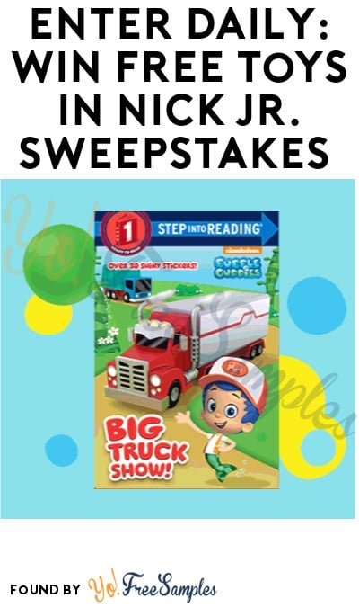 Enter Daily: Win FREE Toys in Nick Jr. Sweepstakes