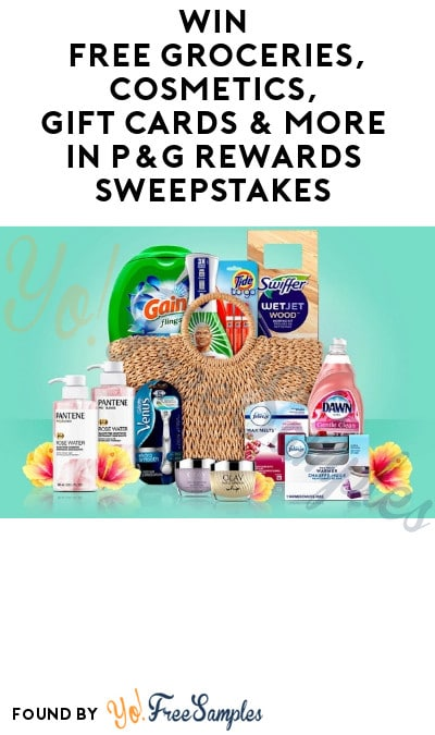 Enter Daily: Win FREE Groceries, Cosmetics, Gift Cards & More in P&G Rewards Sweepstakes (Free Mail-In Entry)