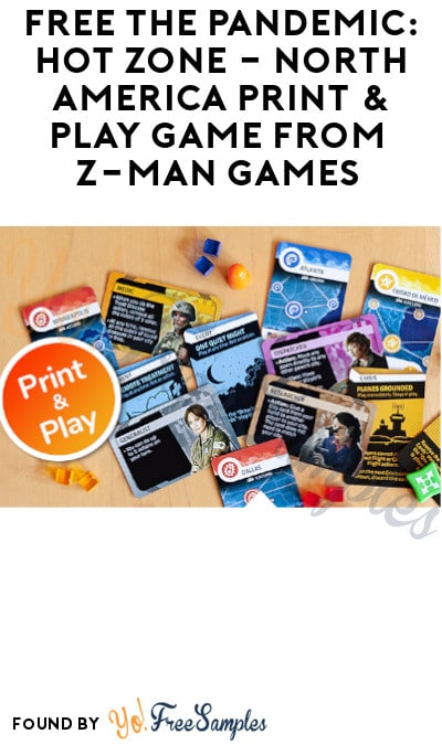FREE The Pandemic: Hot Zone – North America Print & Play Game from Z-Man Games