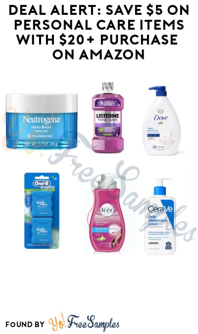 DEAL ALERT: Save $5 on Personal Care Items with $20+ Purchase on Amazon