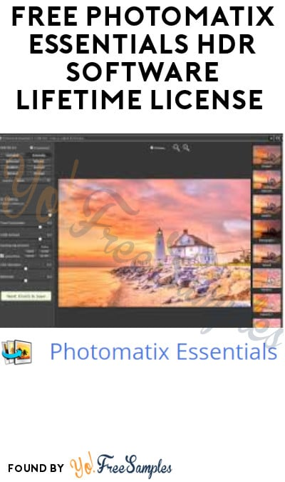 FREE Photomatix Essentials HDR Software Lifetime License