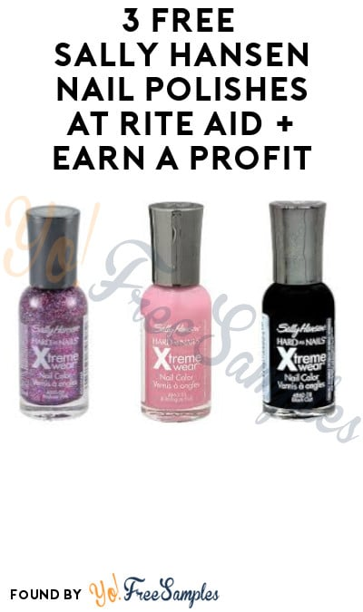 3 FREE Sally Hansen Nail Polishes at Rite Aid + Earn A Profit (Wellness+ Required)