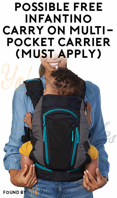 Possible FREE Infantino Carry On Multi-Pocket Carrier (Must Apply)