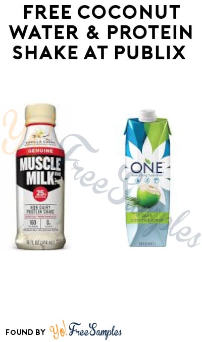 FREE Coconut Water & Protein Shake at Publix (Account Required)