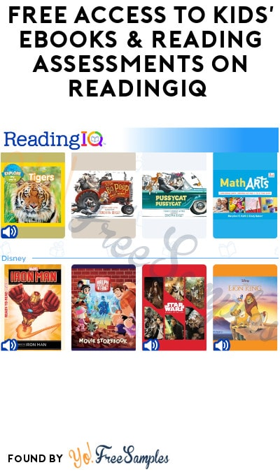 FREE Access to Kids' eBooks & Reading Assessments on ReadingIQ