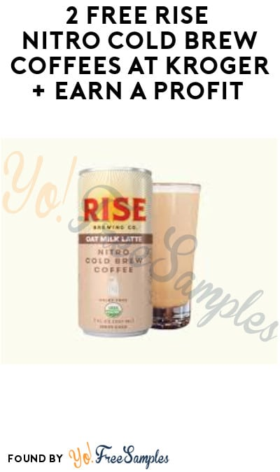 2 FREE Rise Nitro Cold Brew Coffees at Kroger + Earn A Profit (Account & Ibotta Required + In-Stores Only)