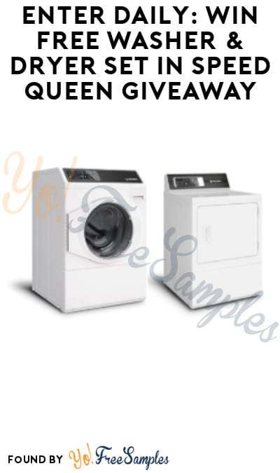 Enter Daily: Win Free Washer & Dryer Set in Speed Queen Giveaway